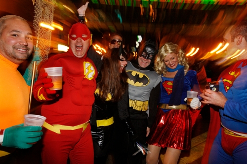 The HighBall in Columbus, Ohio is the largest Halloween event in the country.
