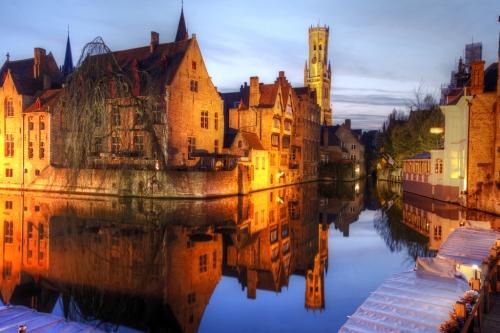 Dusk Brugge Belgium